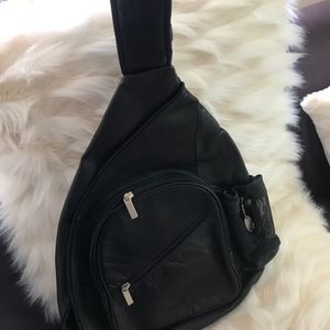 David King Bags - Mens Backpack Black Leather